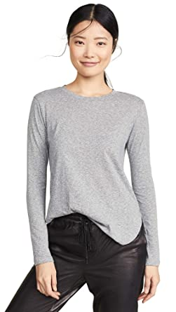 30313ff45d LNA Women's Essential Tri Blend Long Sleeve Tee, Heather Grey, X-Small