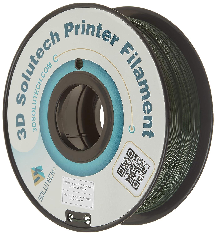 3D Solutech Camo Green 3D Printer PLA Filament 1.75MM Filament, Dimensional Accuracy +/- 0.03 mm, 2.2 LBS (1.0KG) - 3DSPLA175CAMO