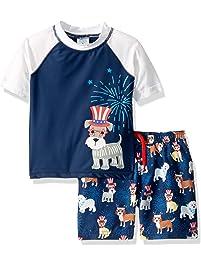 7d50c8305f Kiko   Max Boys Set with Short Sleeve Rashguard Swim Shirt