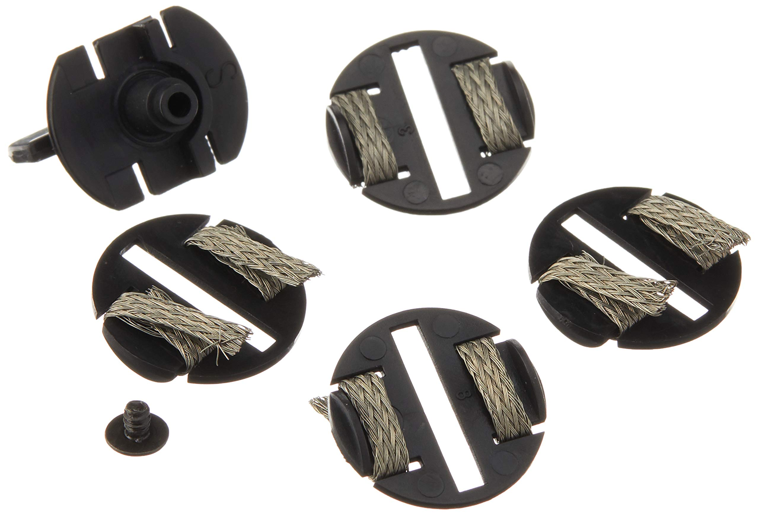 Scalextric Round Guide Blade with 4 Braid Plates and 1 Screw Parts Pack for 1:32 Slot Race Cars C8329