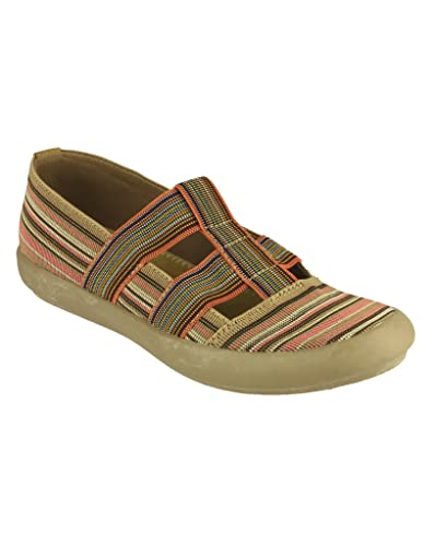 Cotswold Ladies Crompton Striped Textile Summer Shoe Navy jt9VzviOqx
