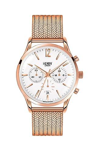 Henry London Reloj Analógico para Unisex de Cuarzo con Correa en Acero Inoxidable 5018479078128: Henry London: Amazon.es: Relojes