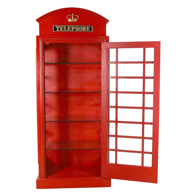 amazon com design toscano british telephone booth display cabinet