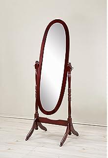 Amazon.com: Swivel Full Length Wood Cheval Floor Mirror, White New ...