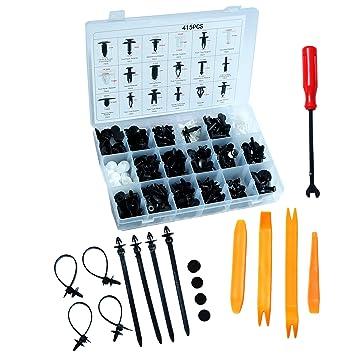 For Ford 415pcs 18 Size Trim Clip Retainer Panel Bumper Fastener Kit Screwdriver