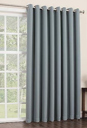 Amazon.com: Sun Zero Easton Blackout Patio Door Curtain Panel, 100 ...