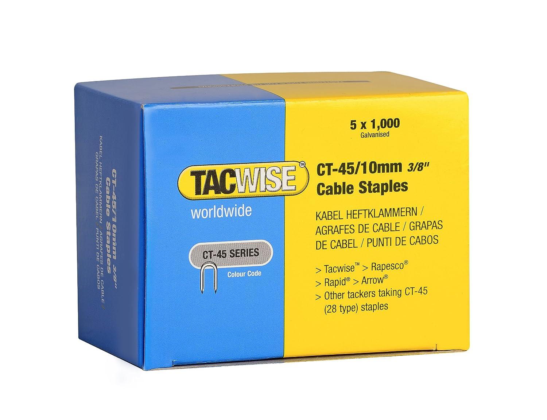 Tacwise 0352 Heftklammern Verzinkt ( CT-45/10mm, 5.000 Stü ck pro Verpackung)