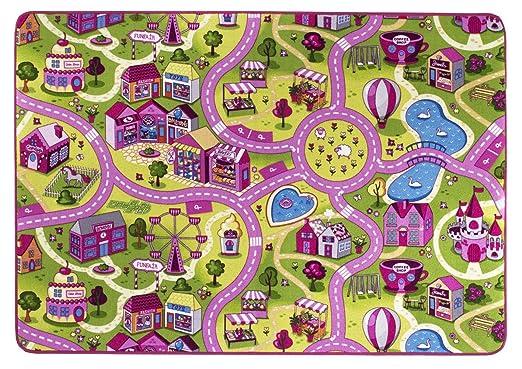 9 opinioni per Tappeto strada/playmat sugartown, Rosa, Oeko-Sud, morbido, Poliammide, Pink-Rosa