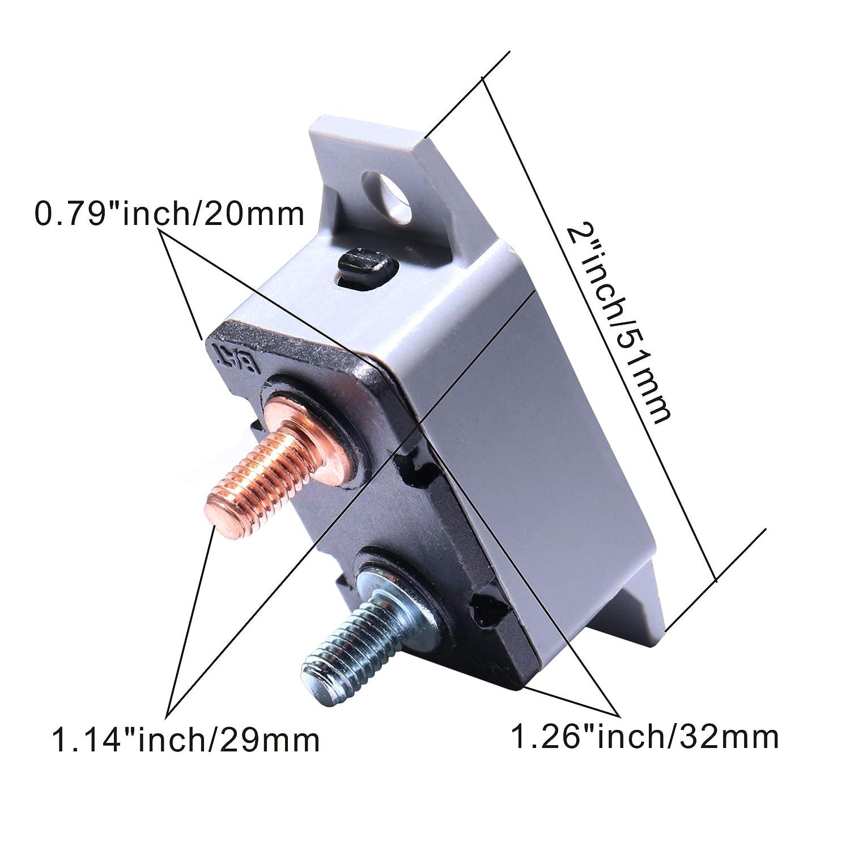2PCS 12-24V 30 Amp ATV Resettable Circuit Breaker Fuse holder