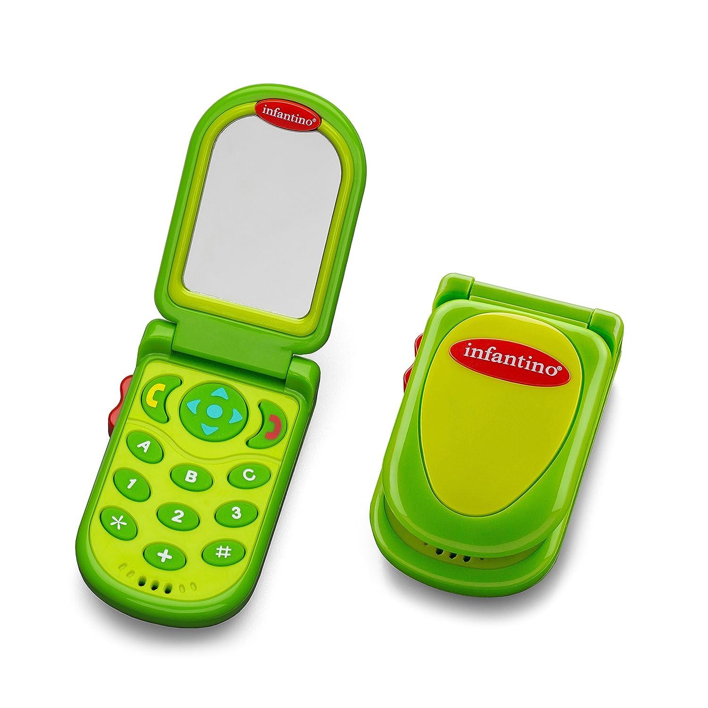 Amazon.com : Infantino Flip and Peek Fun Phone, Green : Baby Toys : Baby