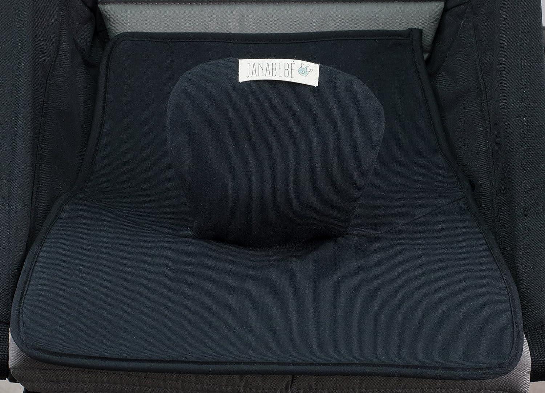 JANABEBE Coj/ín trainer super absorbente y reutilizable Black Rayo