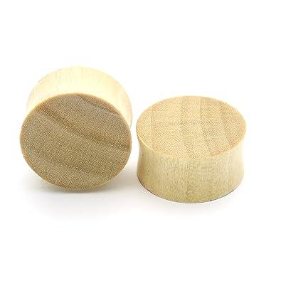 Amazon com: Sawo Wood Double Flare Tunnel Organic Wood Ear