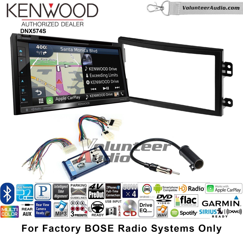 ボランティアオーディオKenwood dnx574sダブルDINラジオインストールキットwith GPSナビゲーションApple CarPlay Android自動Fits 2003 – 2005日産350z ( with Bose ) B07C28M19D