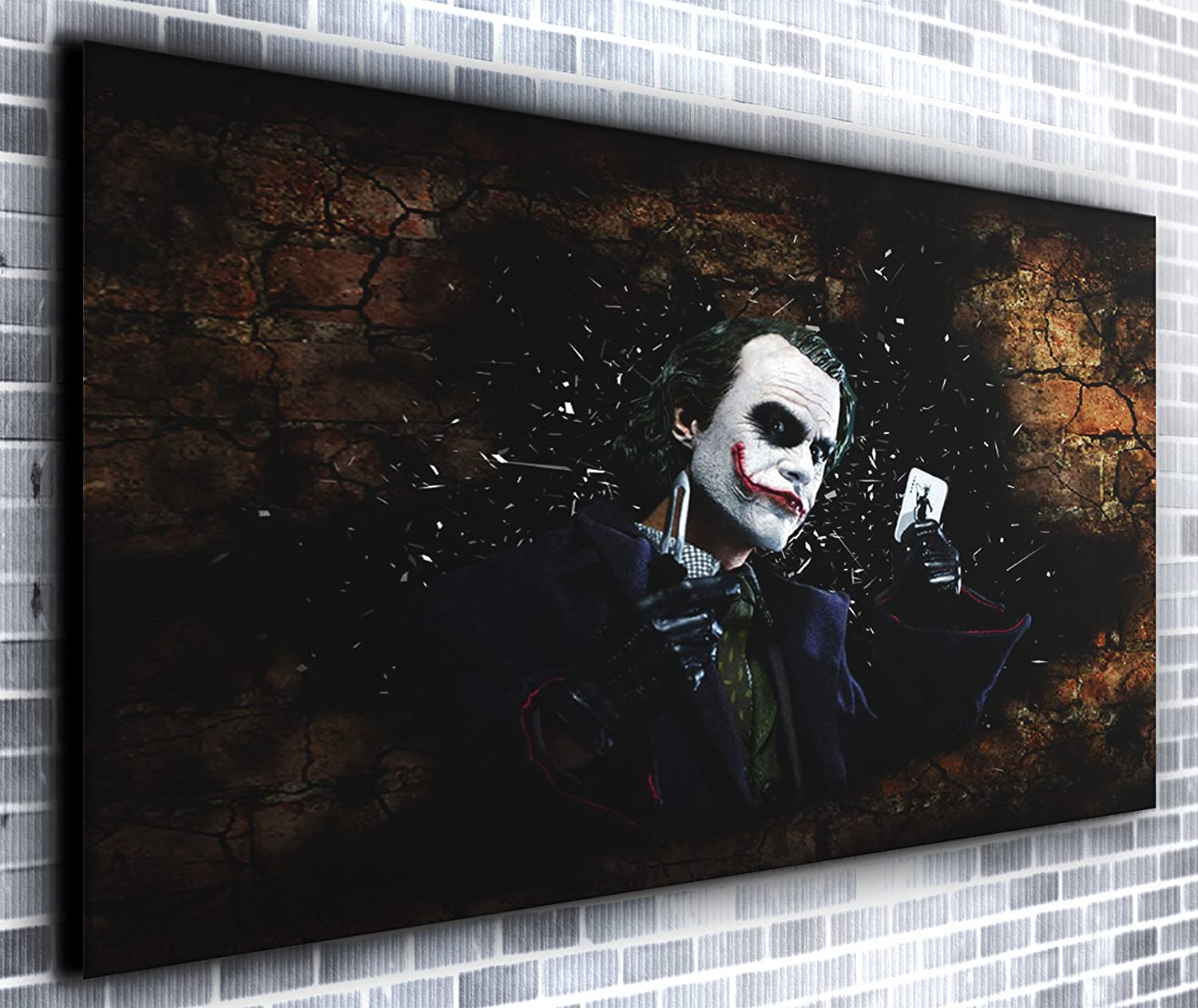 Der Joker Karte Heath Ledger Batman Film Panorama Wandbild auf ...
