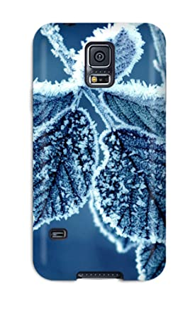 Amazon.com: Waterdrop Snap-on Frosty Leaves Case For Galaxy ...
