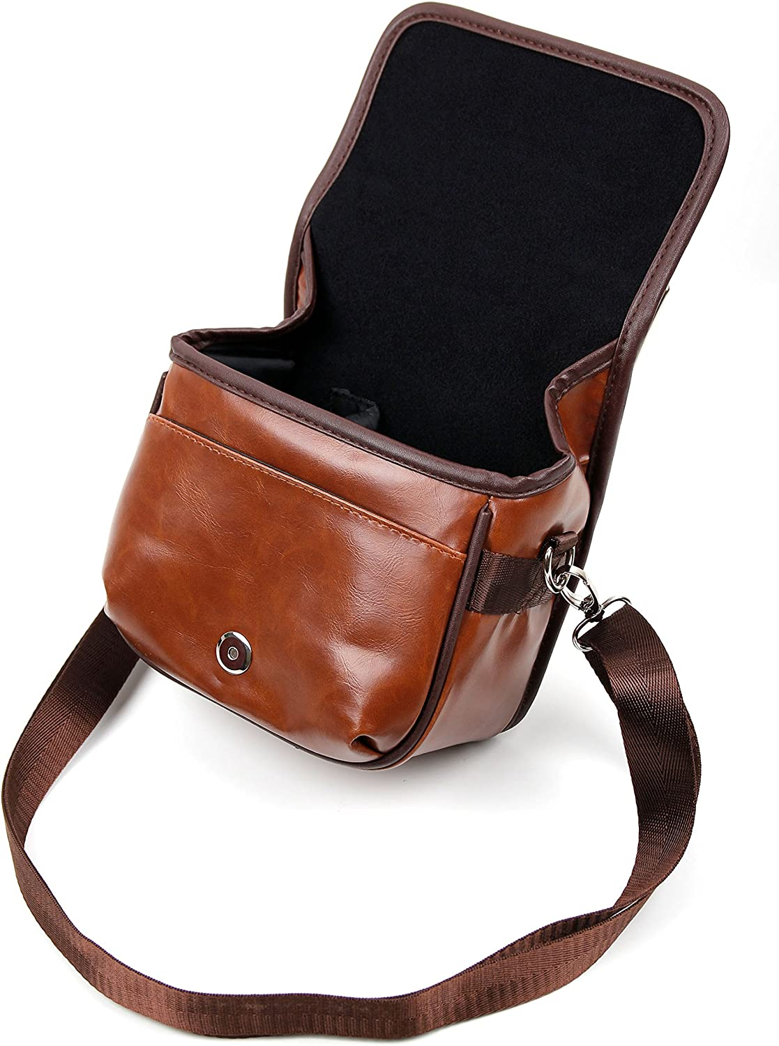 Compatible with Canon Legria Mini X DURAGADGET Small Brown PU Leather Satchel Carry Bag