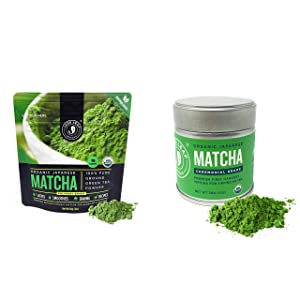 Jade Leaf Culinary + Ceremonial Matcha Bundle - Organic Matcha Green Tea Powder Culinary Pouch (30g) and Ceremonial Tin (30g)