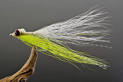Mustad Signature Duratin Fly Hooks Clouser Minnow Fishing Flies 6 Pack Lime