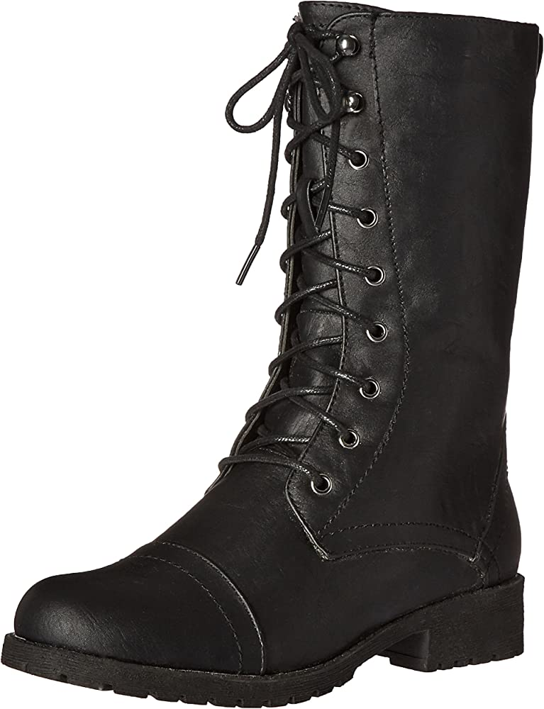Nature Breeze Women Lug-11 Boots, Black