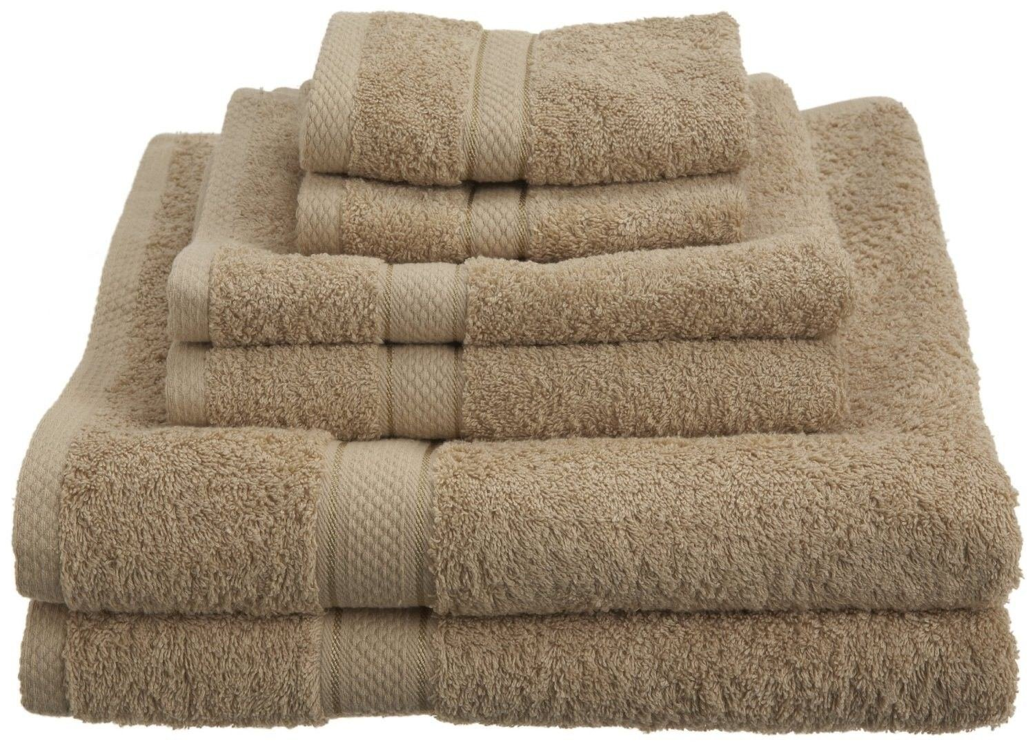 100% Egyptian Cotton 725 Gram Bath Towel Towels Set Different (Driftwood)