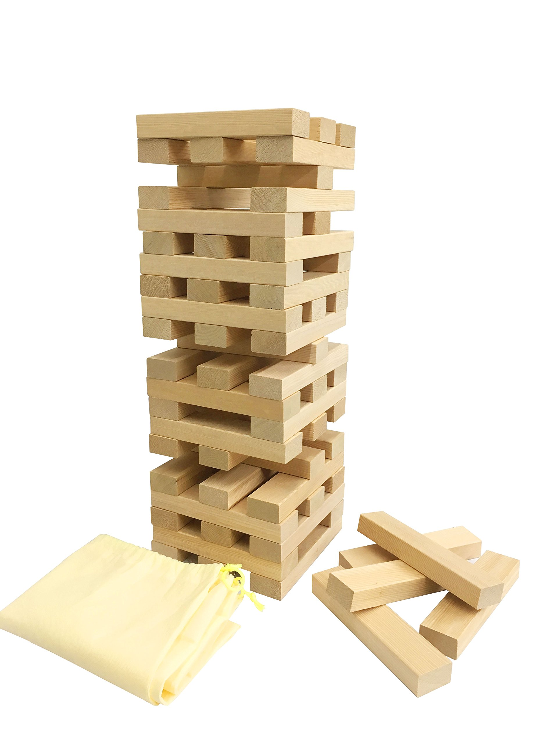 IFUN HIGH Wooden giant tumble tower 60PCS Hands-on puzzle game