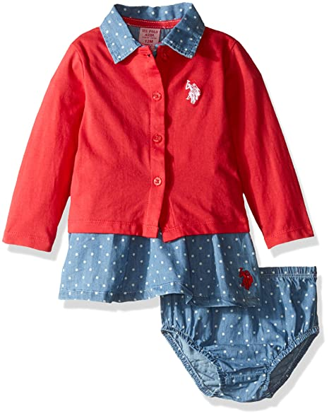 Amazon Com U S Polo Assn Us Polo Assn Baby Girls Denim Dress