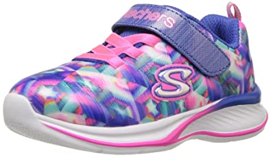 Skechers Kids Girls' Jumpin' Jams Sneaker,Blue/Multi,10 Medium US
