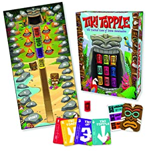 Gamewright Tiki Topple - The Tactical Board Game of Totem Domination Board Game