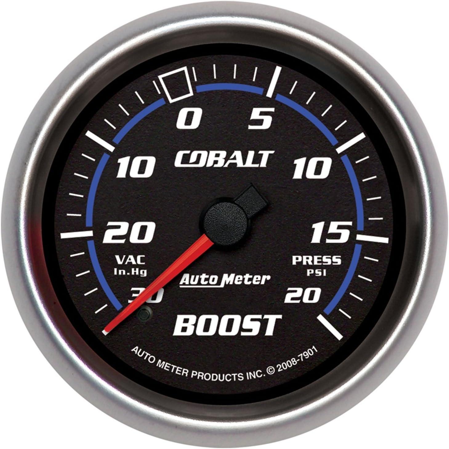 Auto Meter 3803 GS 2-1//16 30 in Hg//30 PSI Mechanical Vacuum//Boost Gauge