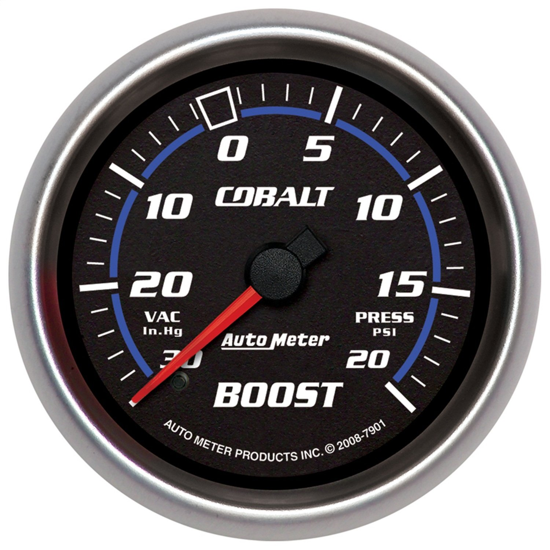 Hg//20 PSI Mechanical Vacuum//Boost Gauge Auto Meter 7901 Cobalt 2-5//8 30 in