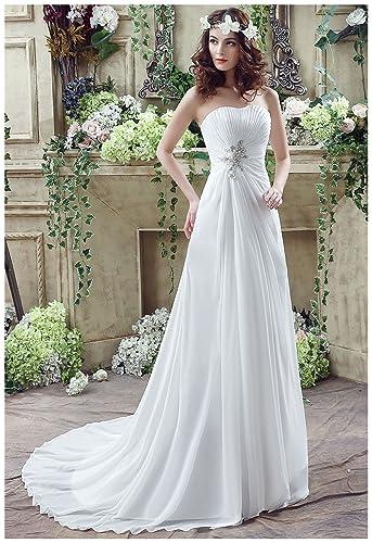 Sarahbridal Women S Mermaid Chapel Train Wedding Dress Bridal Gown