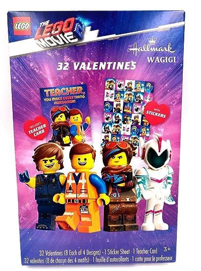 Amazon Com Lego Movie 2 32 Classroom Valentines Day Cards For