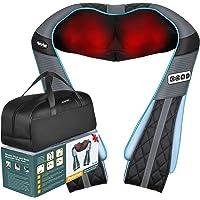 Shiatsu - Masajeador eléctrico de espalda y cuello con calor PerkyPack de tejido profundo para cuello, espalda, hombros…