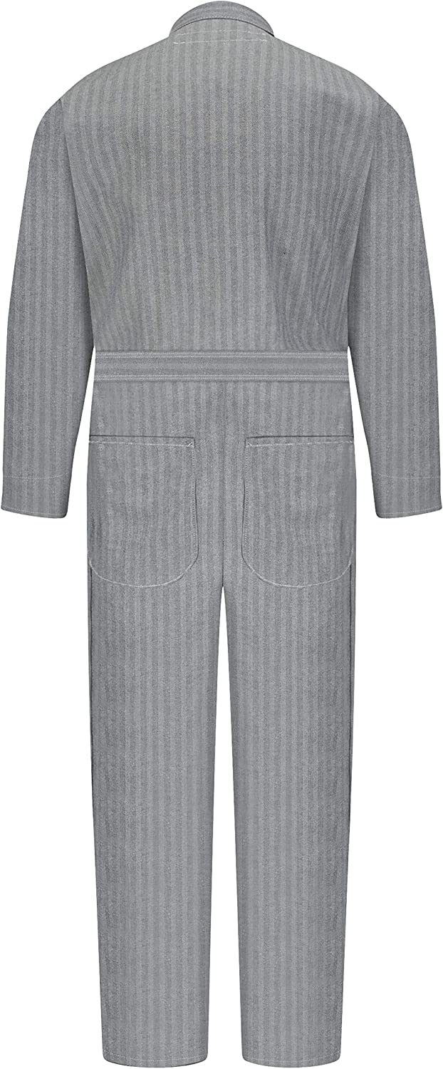 Red Kap mens Button Front Cotton Coverall