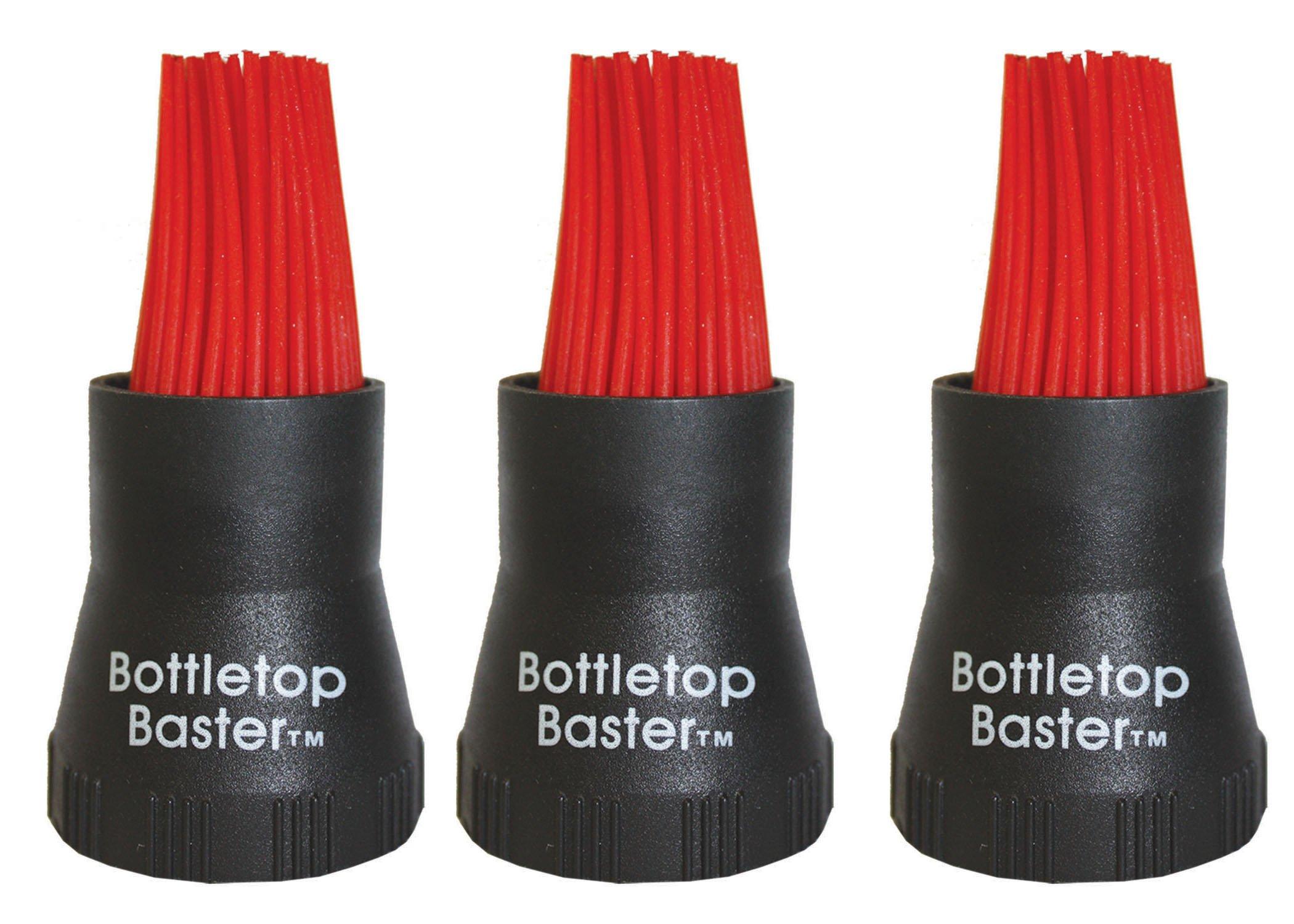 Jokari Crazy But It Works Silicone Bottletop BBQ Baster, Black, 3-Pack