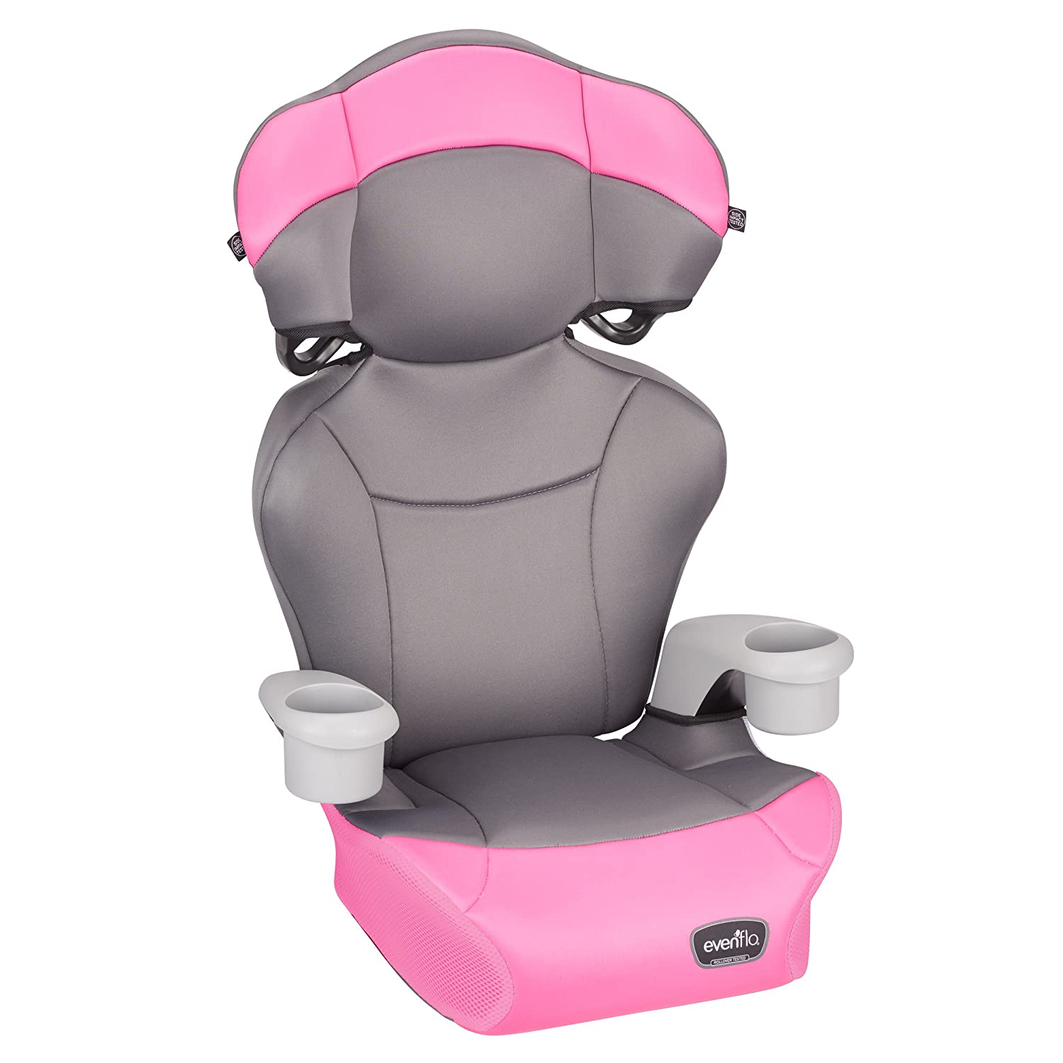 Evenflo Big Kid AMP High Back Booster Car Seat Pink Dove 36512103
