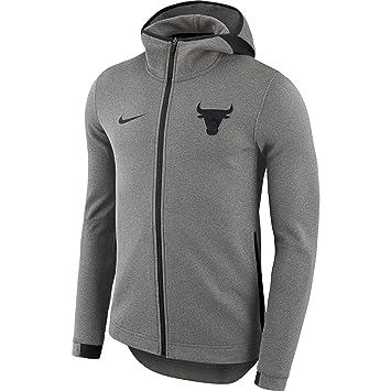 Nike Chi M Nk Dry Showtime HD FZ Chaqueta Chicago Bulls, Hombre, Gris (Dark Grey/Htr / Negro), M: Amazon.es: Deportes y aire libre