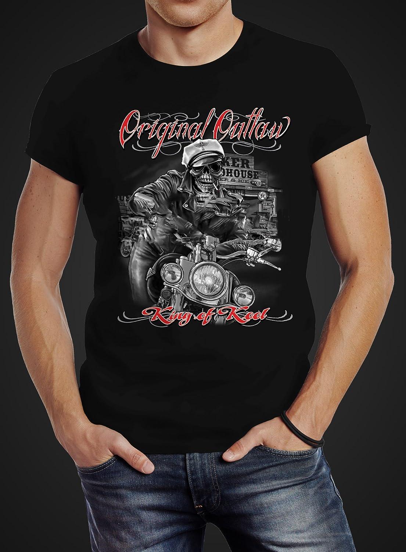 Neverless Herren T-Shirt King of The Road Motorrad Biker Skelett Rockabilly  Slim Fit Baumwolle: Amazon.de: Bekleidung
