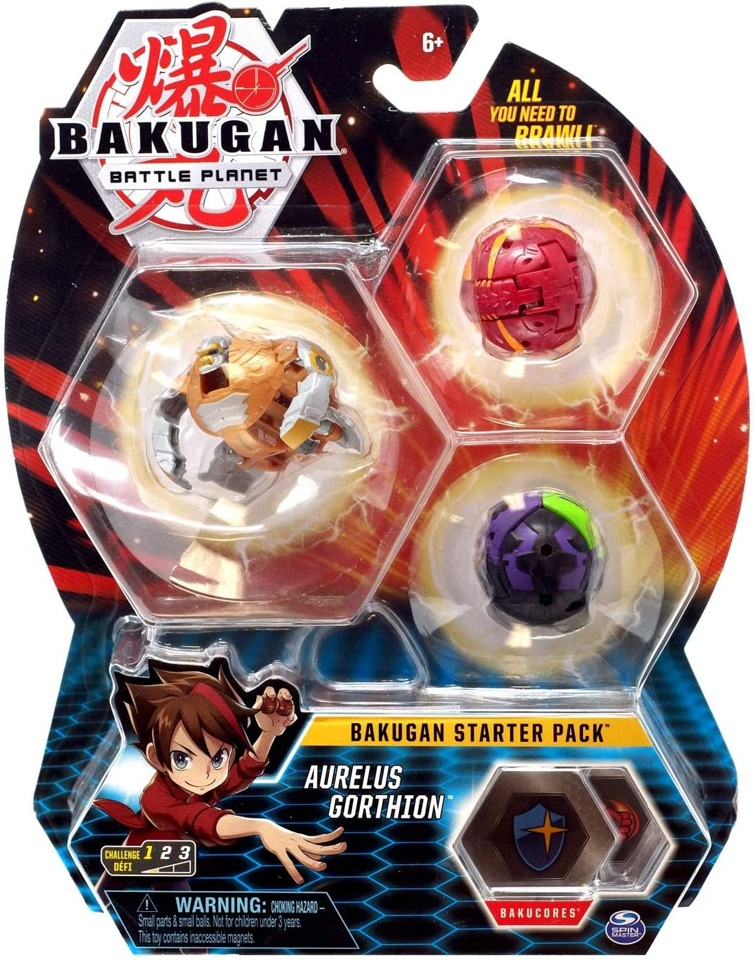 BKGAN Bakugan Starter Pack Aurelus Gorthion: Amazon.es: Juguetes y ...
