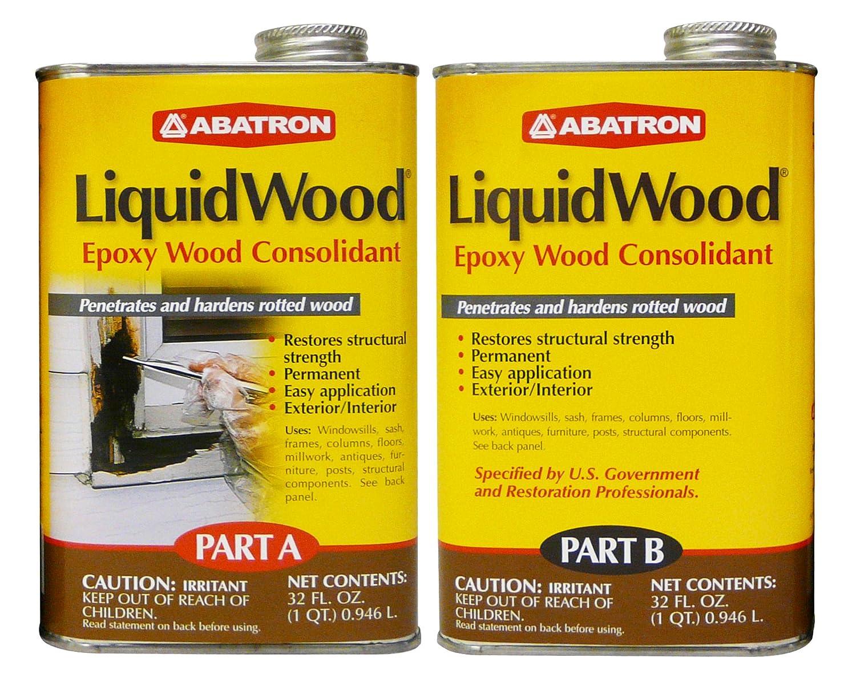 Abatron LiquidWood Epoxy Wood Consolidant, 2 Quart Kit, Part A & B