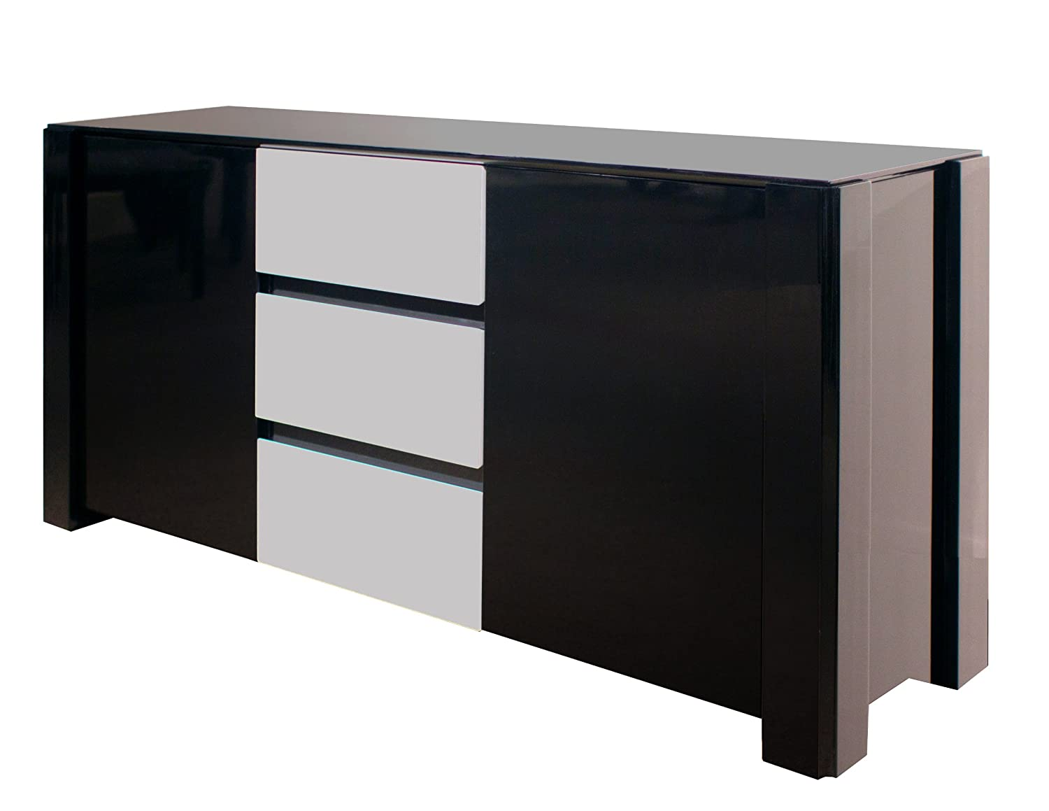 Amazon Com Sharelle Furnishings Natalia Black Lacquer Buffet