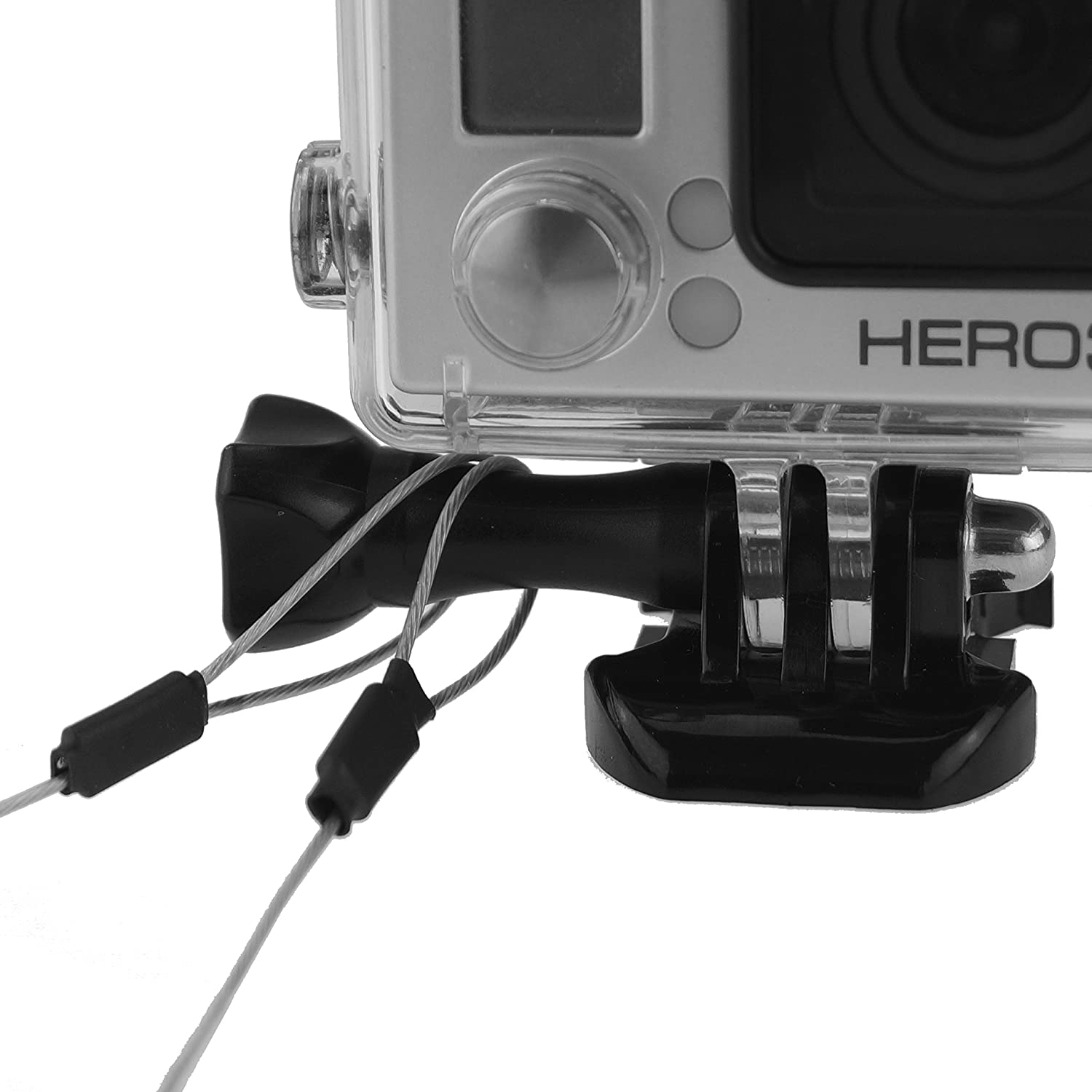 CamKix 30 Inch Stainless Steel Tether Lanyard for Gopro Hero 5//4 Black Silver Session Hero+ LCD 2 Customizable 3 Lanyards // 12 Metal Tubes // 3 Shrinkable Tubes//Instruction Card 3+ 3 1