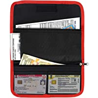 Storite Two Wheeler Document Holder, Vehicle Document Storage Wallet for Registration & Insurance Card– Red/Black (25.5 x 12 cm)