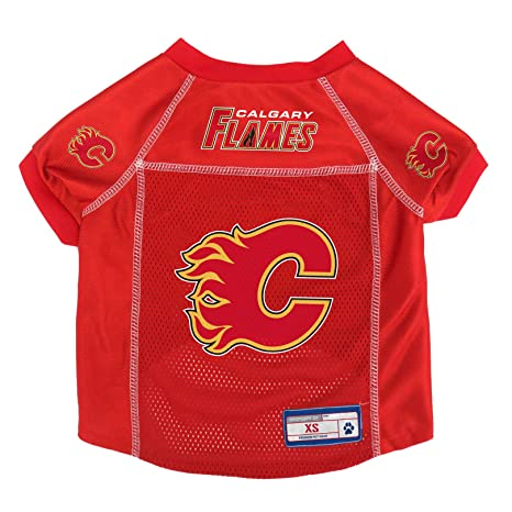 620cb4770 Image Unavailable. Image not available for. Color  NHL Calgary Flames Pet  Jersey ...