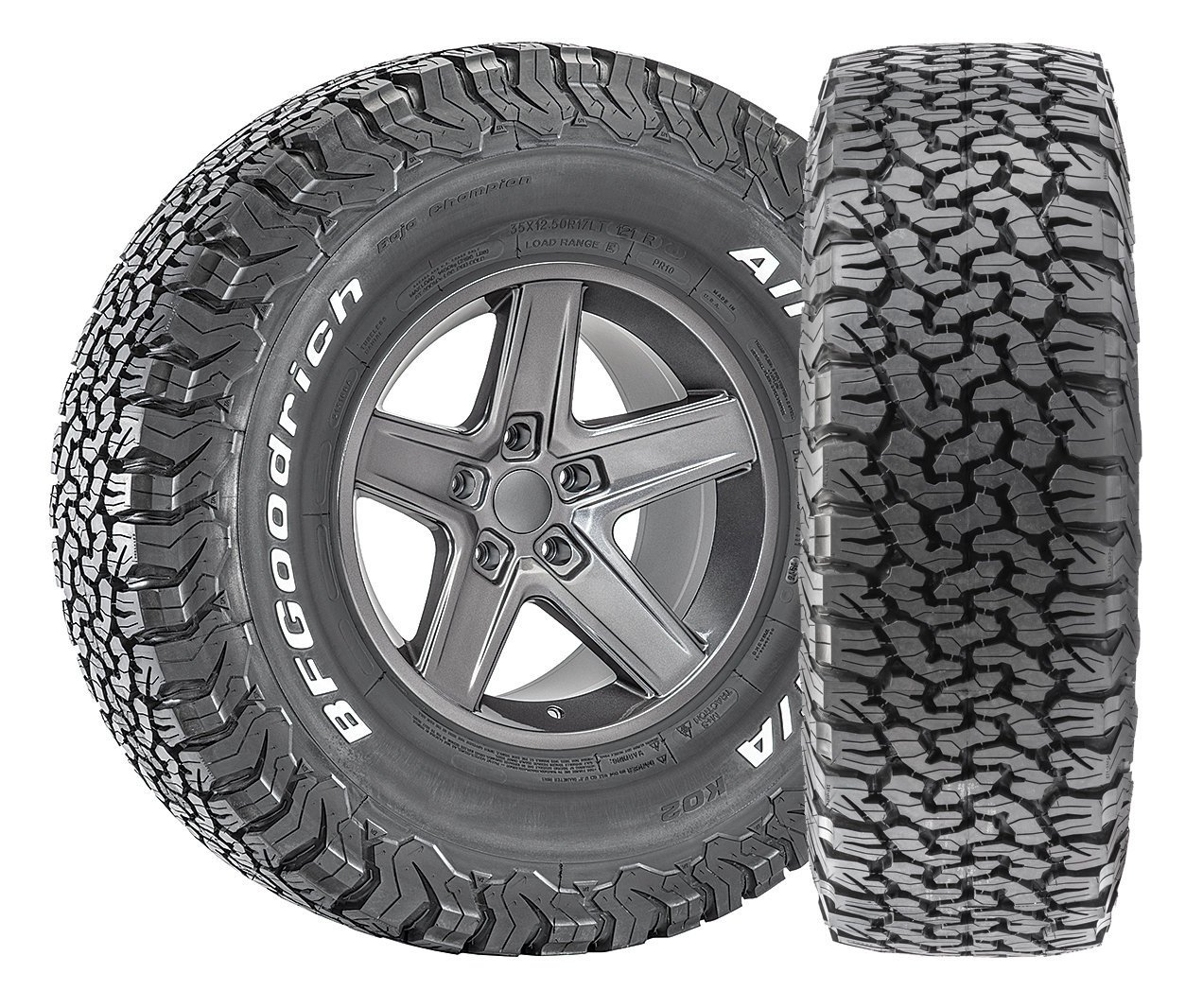 BFGoodrich All- Terrain T/A KO2 Radial Tire-LT215/75R15 100C 44092