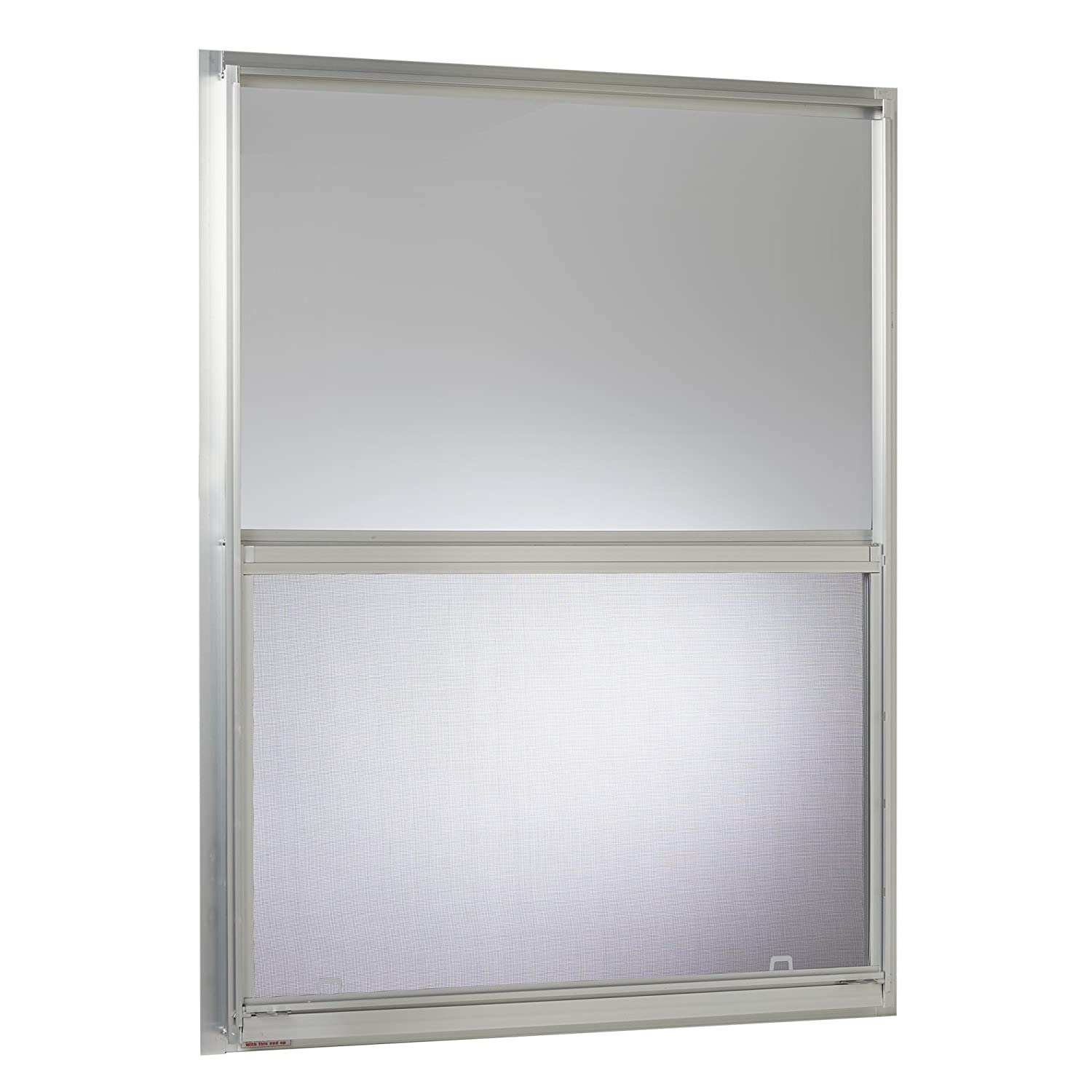 Aluminum Mobile Home Single Hung Window x 40 in Silver Park Ridge Products AMHMF3040PR Park Ridge Mill Finish 30 in