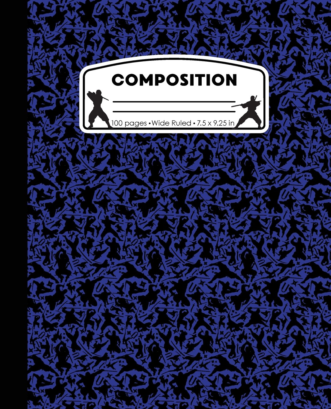 Composition: Ninja Blue Marble Composition Notebook. Ninjas Wide Ruled 7.5 x 9.25 in, 100 pages journal for girls boys, kids, elementary school students and teachers (Ninja Marble Composition Books) ebook