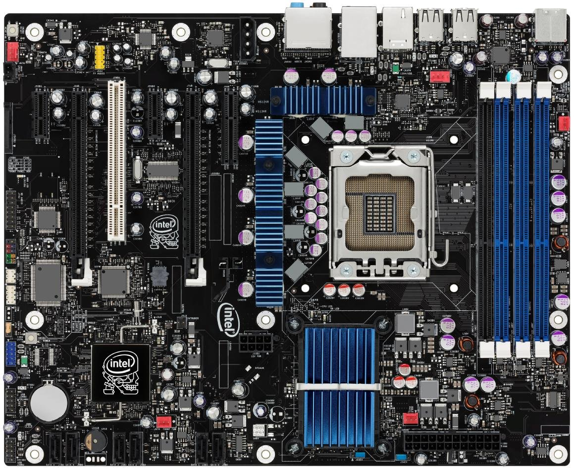Intel DX58SO Extreme Series X58 ATX Triple-channel DDR3 16GB SLI or CrossFireX LGA1366 Overclocking Utility Desktop Board - Retail