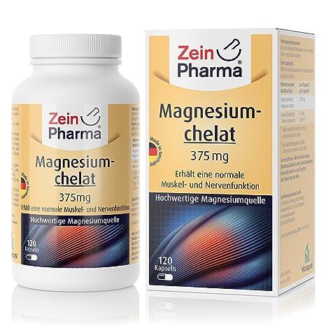 Cápsulas de Quelato de Magnesio 112mg de ZeinPharma • 120 cápsulas (5 semanas de suministro