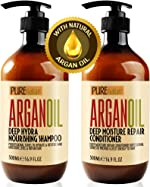 Moroccan Argan Oil Shampoo and Conditioner SLS Sulfate Free Gift Set